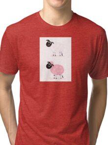 Cartoon sheep. Vector Illustration of funny sheep Tri-blend T-Shirt