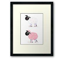 Cartoon sheep. Vector Illustration of funny sheep Framed Print