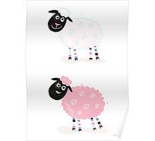 Cartoon sheep. Vector Illustration of funny sheep Poster