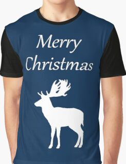 Merry Christmas Deer Graphic T-Shirt