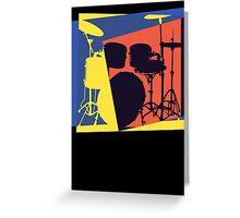 Drum Set Pop Art Greeting Card