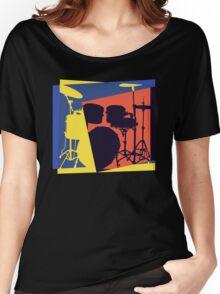 Drum Set Pop Art Women's Relaxed Fit T-Shirt