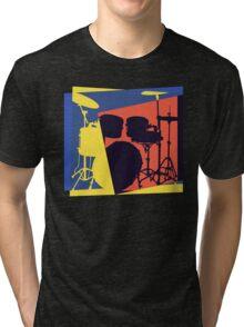 Drum Set Pop Art Tri-blend T-Shirt
