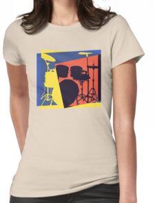 Drum Set Pop Art Womens Fitted T-Shirt