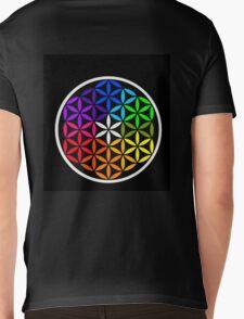 Secret flower of life colored Mens V-Neck T-Shirt