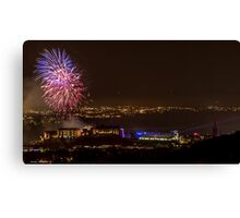 Edinburgh Military Tattoo Fireworks from Edinburgh Castle Canvas Print