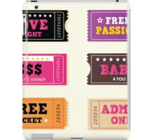 Love night tickets. Join crazy night party with collection of stylish retro tickets iPad Case/Skin