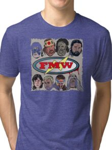 FMW Tribute - Terry Funk, Sabu, Hayabusa, Onita + more Tri-blend T-Shirt