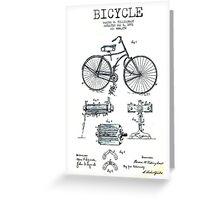 BICYCLE PATENT; Vintage Bike Patent Print Greeting Card