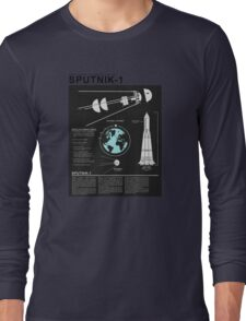SPUTNIK-1 Infographics  Long Sleeve T-Shirt