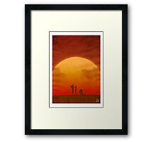 The Clone Wars - Minimalist Poster Framed Print
