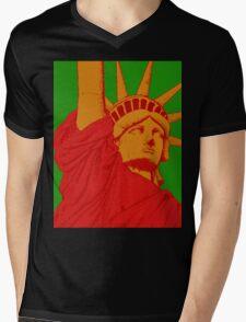 Statue Of Liberty Cool Graphic Design Mens V-Neck T-Shirt