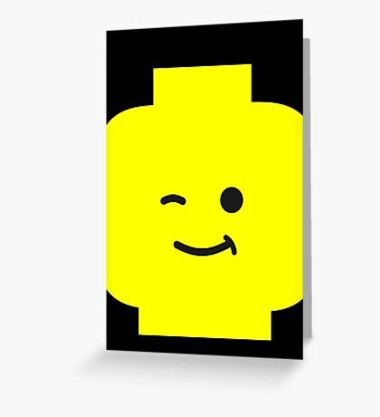 Minifig Winking Head  Greeting Card