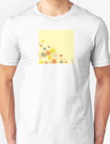 Retro flower background texture. Retro flower design Unisex T-Shirt