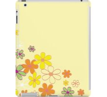 Retro flower background texture. Retro flower design iPad Case/Skin