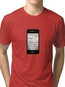 Death by Texting iPhone Edition Tri-blend T-Shirt