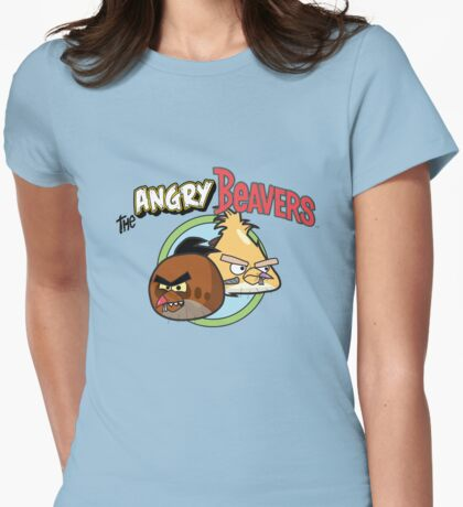 The Angry Beavbirds Womens Fitted T-Shirt