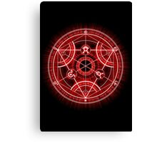 Human Transmutation Circle - Red Canvas Print