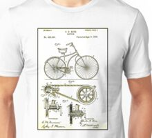BICYCLE PATENT; Vintage Cycle Patent Print Unisex T-Shirt