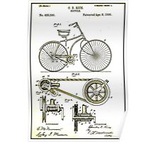 BICYCLE PATENT; Vintage Cycle Patent Print Poster