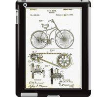 BICYCLE PATENT; Vintage Cycle Patent Print iPad Case/Skin