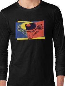 Vintage Turntable Pop Art Long Sleeve T-Shirt