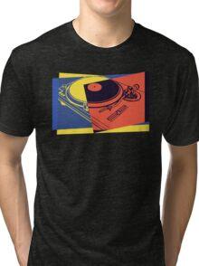 Vintage Turntable Pop Art Tri-blend T-Shirt