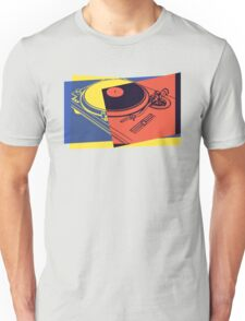 Vintage Turntable Pop Art Unisex T-Shirt