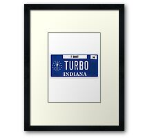 License Plate - TURBO BOOST Framed Print