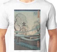 Hatsune riding grounds - Hiroshige Ando - 1857 Unisex T-Shirt