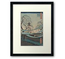 Hatsune riding grounds - Hiroshige Ando - 1857 Framed Print