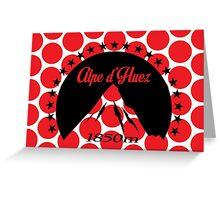 Alpe d'Huez (Black) Greeting Card