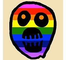 Big Rainbow Boosh Skull Photographic Print