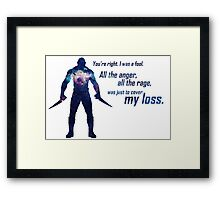 All the Anger, All the Rage Framed Print