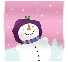 It's snowing - Winter snowman lady. Winter romance Poster