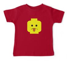 Rude Minifig Face Sticking Tongue Out  Baby Tee