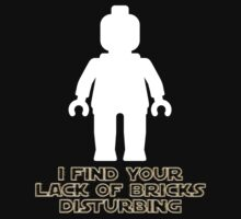 """I Find Your Lack of Bricks Disturbing"" by Customize My Minifig Baby Tee"