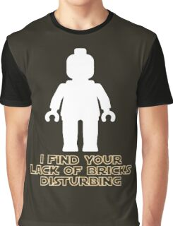"""I Find Your Lack of Bricks Disturbing"" by Customize My Minifig Graphic T-Shirt"