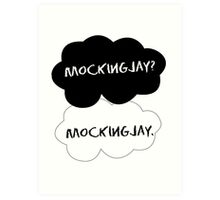The fault in our Mockingjay Art Print