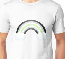 Agender Rainbow Pride - Textless Unisex T-Shirt