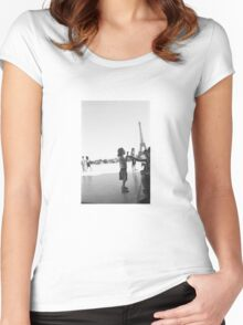 Eiffel Tower. Paris. France. Ice Cream ® Women's Fitted Scoop T-Shirt