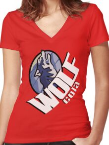 Wolf Cola Women's Fitted V-Neck T-Shirt