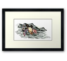 Oh how picturesque a ram skull Framed Print