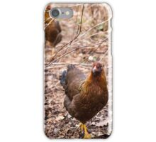 Chooks in the Raspberry Patch iPhone Case/Skin