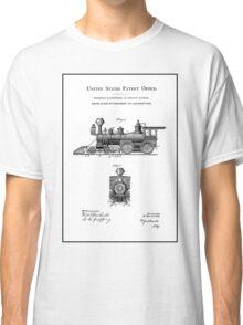 TRAINS LOCOMOTIVES; Vintage Patent Print Classic T-Shirt