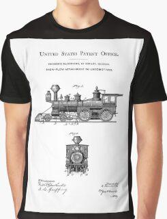 TRAINS LOCOMOTIVES; Vintage Patent Print Graphic T-Shirt