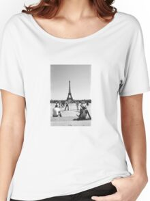 Eiffel Tower. Paris. Guys Playing ® Women's Relaxed Fit T-Shirt