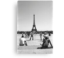 Eiffel Tower. Paris. Guys Playing ® Canvas Print