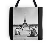 Eiffel Tower. Paris. Guys Playing ® Tote Bag