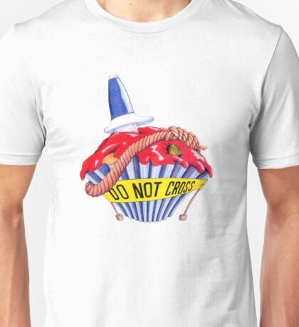 Crime Scene Cupcake T-shirt Unisex T-Shirt